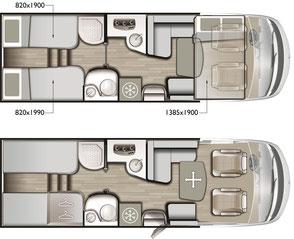Mobilvetta K-Silver i 56 Grundriss