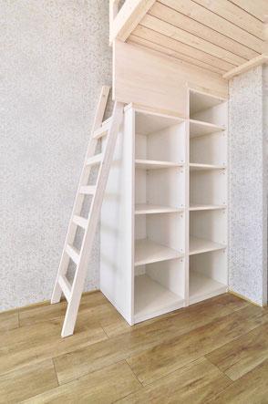 梯子 オープン棚