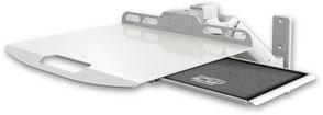 ウォールマウント 壁面固定 ガススプリング内蔵 昇降式 ノートパソコン用アーム:ASUL180-W3-LUS