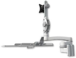 医療向け ウォールチャネルマウント ディスプレイキーボード ワークステーションアーム :ASUL550-W5-KUB-A2