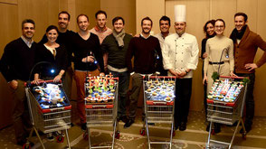 Beim Teamevent Guerilla Cooking kreiert jede Gruppe eine kreative Vorspeise.