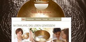 Beispielwebseite der Firma SoundWorld Klangmarketing