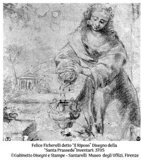 Felice Ficherelli_Disegno Santa Prassede_Uffizi Firenze_L'Ultimo Vermeer_La Santa Prassede_Appunti d'Arte di Tamara Follesa