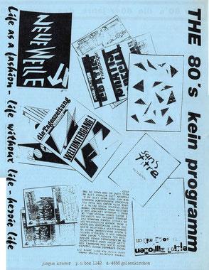 Die 80er Jahre; Teil 1 eines 2-seitigen Prospekts von J. Kramer