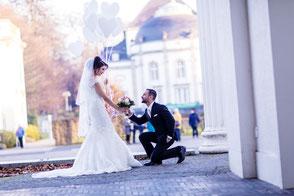Braut und Bräutigam in Hannover Hochzeit Hochzeitsfotografie