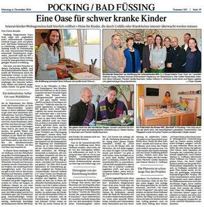 Intensivkinder Wohngemeinschaft Pocking Presse Bericht Eröffnung