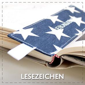 Julia Design Stoff Baumwolle handmade Handarbeit schön Lesezeichen Textil Stoff
