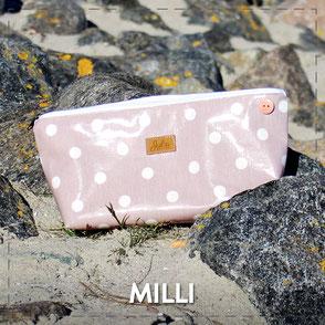 Julia Design Handarbeit handmade Kosmetiktasche Täschchen Stoff Milli
