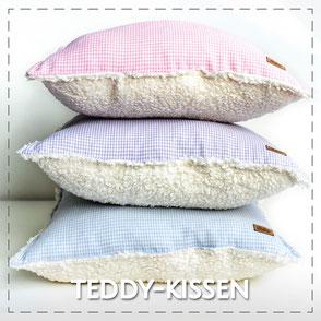 Kissen Teddy weich kuschelig Dekoration Wohnen