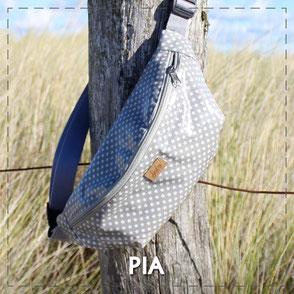 Julia Design Handarbeit handmadeTasche bag Stoff Bauchtasche Pia