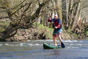 SUP Jagst River Wildwasser I