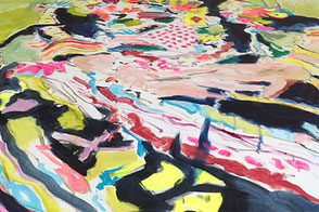 detail of a painting in progress