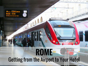 Rome - Getting from the airport to your hotel - www.BabyCanTravel.com