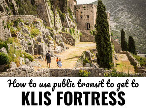 How to get to Klis Fortress in Split Croatia by Bus
