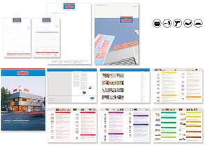 Geschäftspapiere, Icons, Lieferprogramm