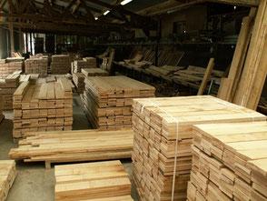 27mm lumber square edged, Fresh sawn oak beams, french oak beams, french oak sawmill