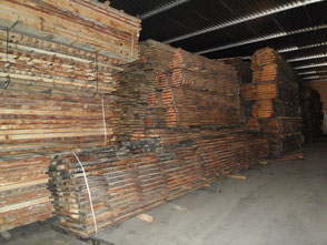 Oak boules, Fresh sawn oak beams, french oak beams, french oak sawmill