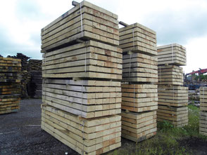 French oak sleepers, Fresh sawn oak beams, french oak beams, french oak sawmill