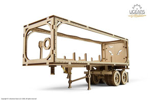 Holz puzzle, Truck Anhänger