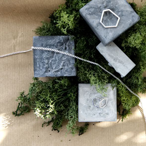 Concrete Flat Lay Jewellery Display Inspiration Blog Post by PASiNGA