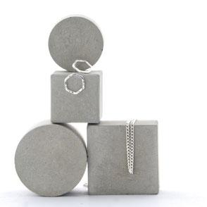 Modular Pale Grey Geometric Concrete Jewellery Photo Prop Set of 4, No26 by PASiNGA
