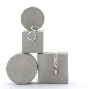 Modular Pale Grey Geometric Concrete Jewellery Photo Prop Set of 4, No26 by PASiNGA