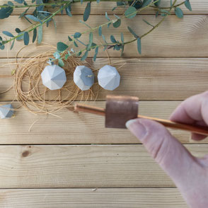Concrete Diamond Ornament Copper Wreath Diy - step 2 by PASiNGA