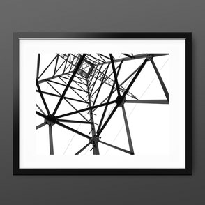 Photographic Art Print 'Electical Tower Inside' by PASiNGA