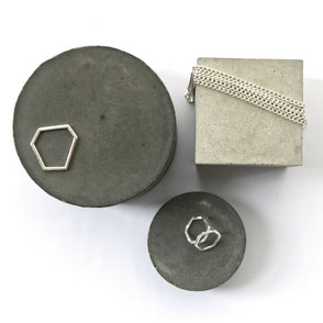 Minimal Concrete Flat Lay Jewellery Display Inspiration Blog Post by PASiNGA