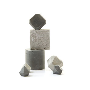 Concrete gems stacked for the August monochrome still-life challenge by the PASiNGA blog