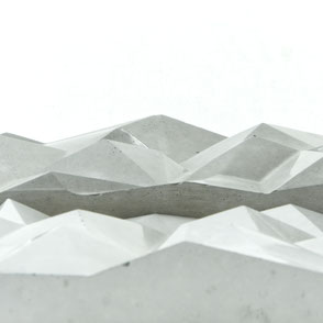 Modern Mountain Concrete Tile, contemporary jewellery display by PASiNGA design