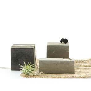 Monochrome Concrete Cube Jewellery Display Set by PASiNGA