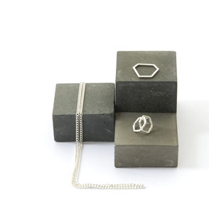 Monochrome Concrete Jewellery Display Inspiration Blog Post by PASiNGA