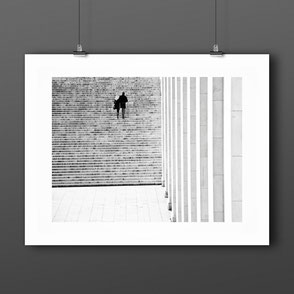 Photographic Art Print  'Couple on Stairs' Paris, France by PASiNGA