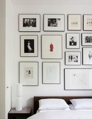 Bedroom Gallery Wall Idea, image via dlingoo