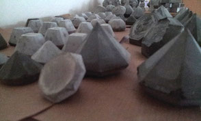 concrete craft station - phone snappy while they are drying