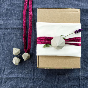 Concrete Diamond  Gift Wrapping Idea by PASiNGA