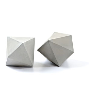 Concrete Dodecahedron, Paper Weight Sculpture by PASiNGA