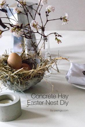 DIY Concrete Hay Easter Nest PASiNGA Tutorial