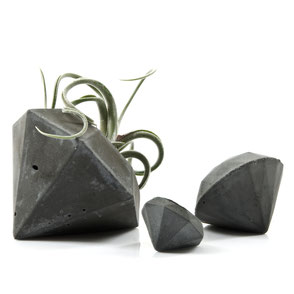 Concrete Diamond Air Plant Vase by PASiNGA