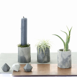 Grey Marble Concrete Cylinder By PASiNGA