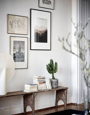 Monochrome Gallery Wall, image via thedesignchaser