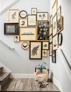 Corner Gallery Wall Idea, image via digdigs