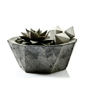 Geometric Concrete Bowl by PASiNGA