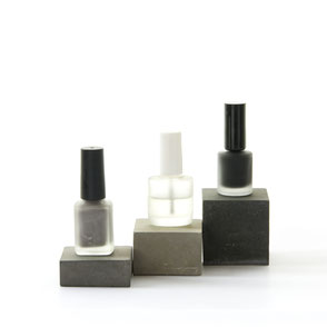 Modern Concrete Cosmetic Display Inspiration Blog Post by PASiNGA