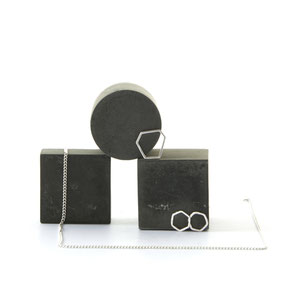 Black Geometric Concrete Photo Props and Jewellery Styling Inspiration by PASiNGA