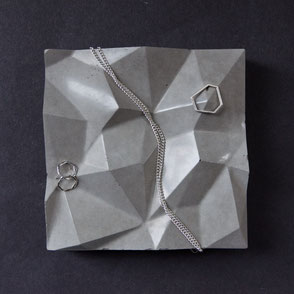 Mountain Concrete Tile, jewellery display by PASiNGA design
