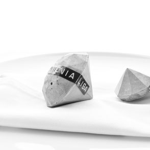 Personalised concrete diamonds for the August Still-life challenge by PASiNGA