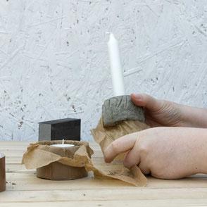 DIY Concrete Candle Holder Tutorial