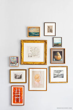 Three Picture Framing Trends For 2019 by PASiNGA, image of golden frames via Pinterest